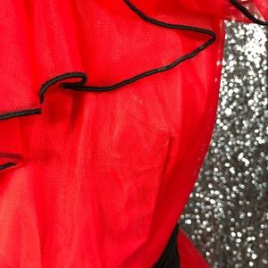 Dresses - 🖤 Vintage 1980s red one shoulder ball gown